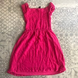 H&M off shoulder dress pink size Xs